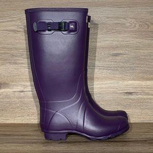 Hunter Field Huntress Purple Tall Rain Boot Sz-8